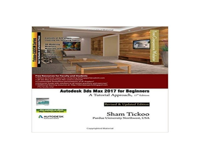 Ebook Textbook Library Autodesk 3ds Max 2017 For Beginners A Tutorial