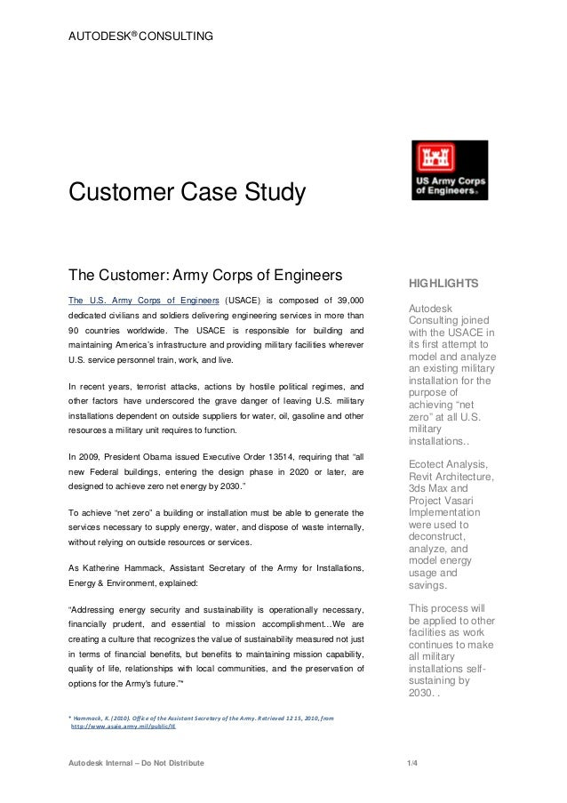 AUTODESK® CONSULTINGCustomer Case StudyThe Customer: Army Corps of Engineers                                              ...