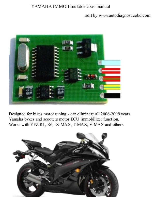 Autodiagnosticobd yamaha immobilizer emulator user manual