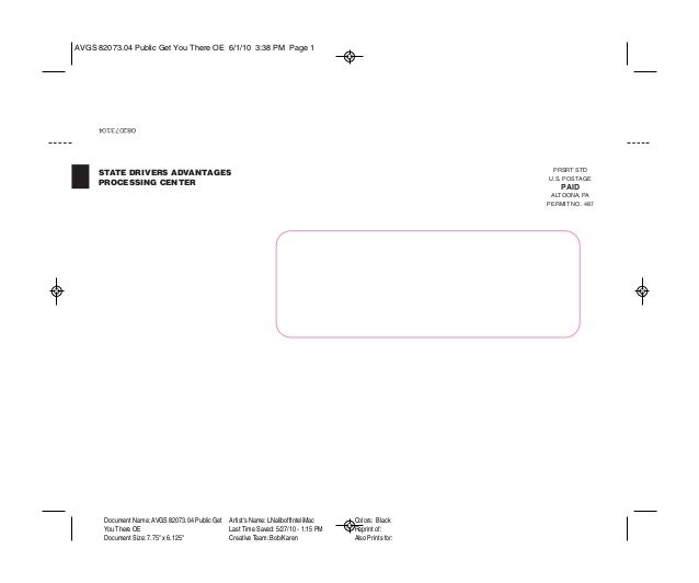 O82073104 PRSRT STD U.S. POSTAGE PAID ALTOONA, PA PERMIT NO. 487 Document Name: AVGS 82073.04 Public Get You There OE Docu...