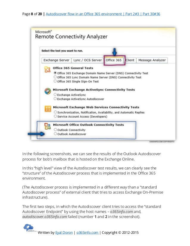 Autodiscover flow in an office 365 environment part 2#3 part