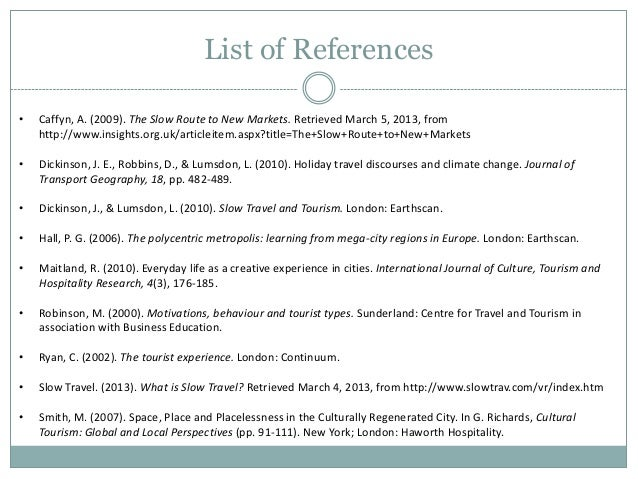 List of tourism research proposal - sites that write papers for you