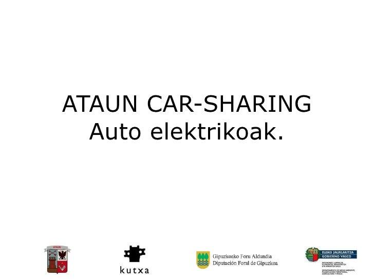ATAUN CAR-SHARING Auto elektrikoak.