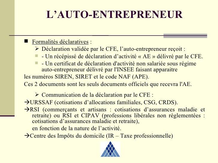 Autoentrepreneur 2 04 2009 - Chambre des metiers inscription auto entrepreneur ...