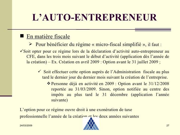cfe auto entrepreneur