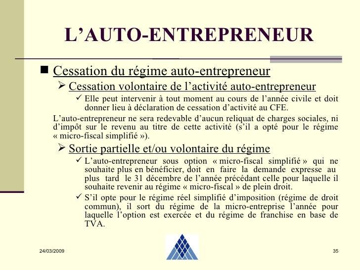 Autoentrepreneur 2 04 2009 for Auto entrepreneur idee activite