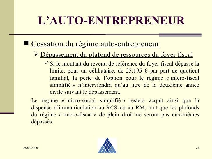 Autoentrepreneur 2 04 2009 - Depassement plafond auto entrepreneur ...
