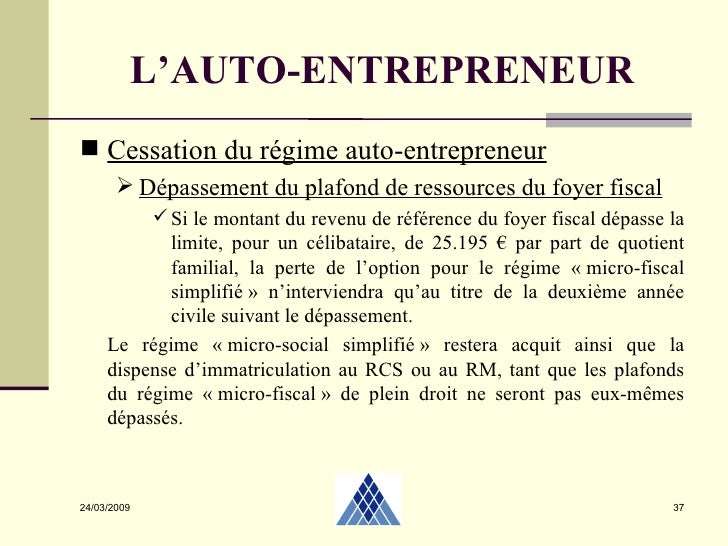 Autoentrepreneur 2 04 2009 - Plafond revenu fiscal de reference 2014 ...