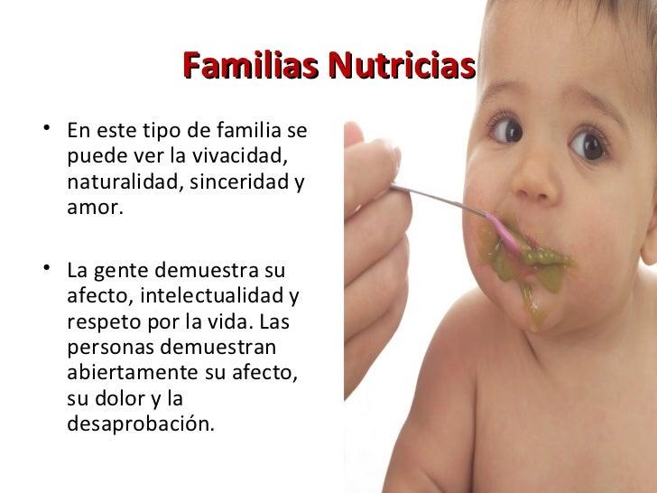 Familias Nutricias <ul><li>En este tipo de familia se puede ver la vivacidad, naturalidad, sinceridad y amor.  </li></ul><...