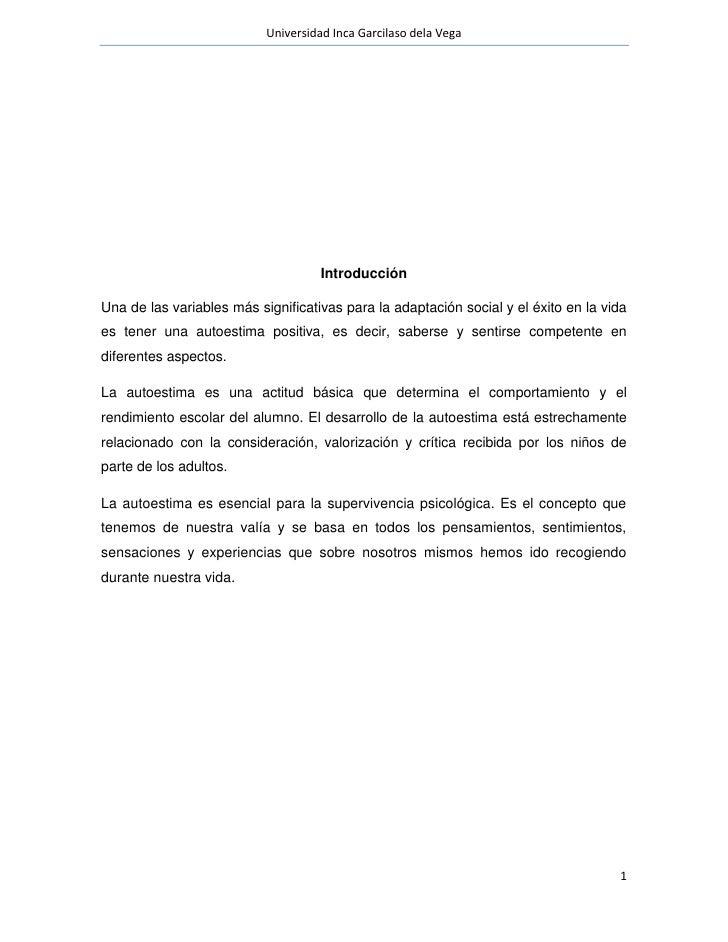 Universidad Inca Garcilaso dela Vega                                     IntroducciónUna de las variables más significativ...