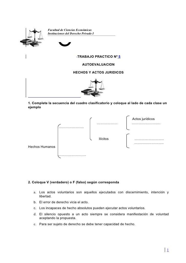 Facultad de Ciencias Económicas            Instituciones del Derecho Privado I                                  TRABAJO PR...