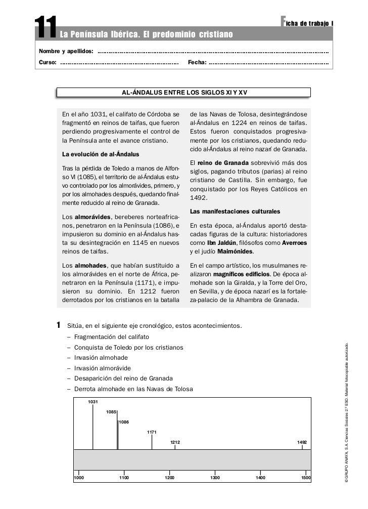 11        La Península Ibérica. El predominio cristiano                                                                   ...