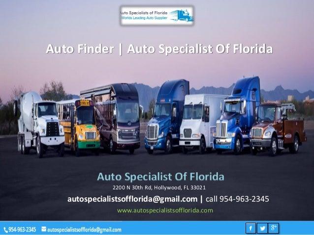 Auto Finder | Auto Specialist Of Florida Auto Specialist Of Florida 2200 N 30th Rd, Hollywood, FL 33021 autospecialistsoff...