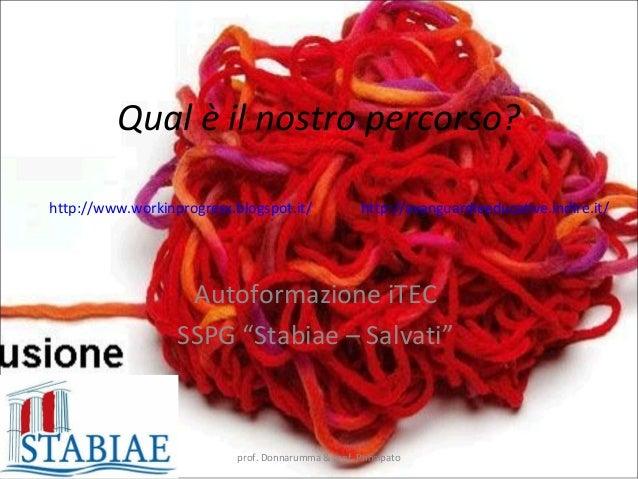 Qual è il nostro percorso?  http://www.workinprogresx.blogspot.it/ http://avanguardieeducative.indire.it/  Autoformazione ...