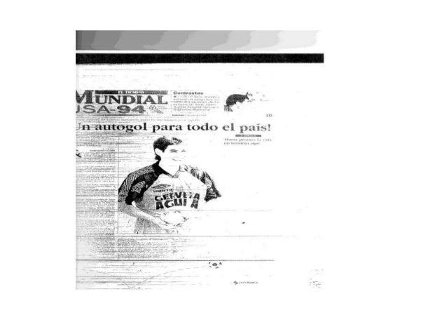 Autogol andrés escobar. 1997