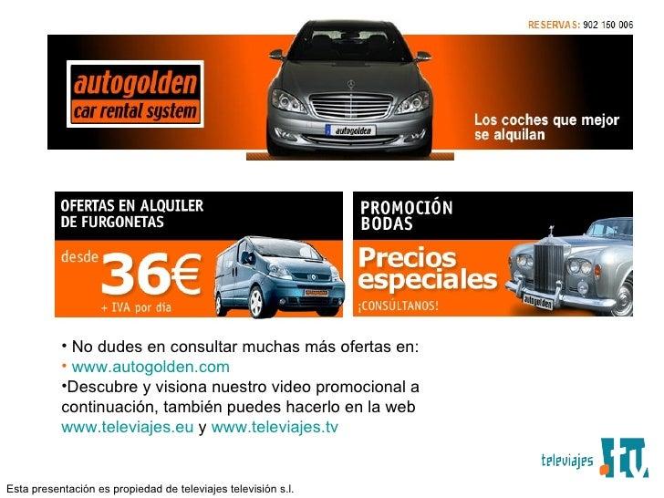 ALQUILER DE MERCEDES VIANO PARA BODAS VALENCIA AUTOGOLDEN POR TELEVIAJES.TV Slide 3