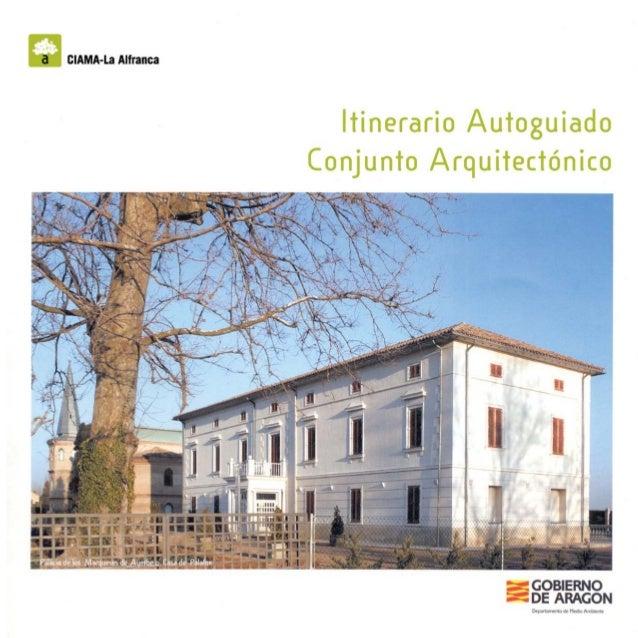 """_ clAMA-La Alfranca  ltinerario Autoguíado Conjunto Arquitectónico  , . .  Í_AI.  ~.  """" x   IIIII ll llllll , ›  Palais de..."""