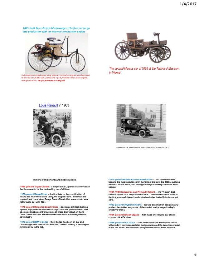 Auto handout unit 1 history