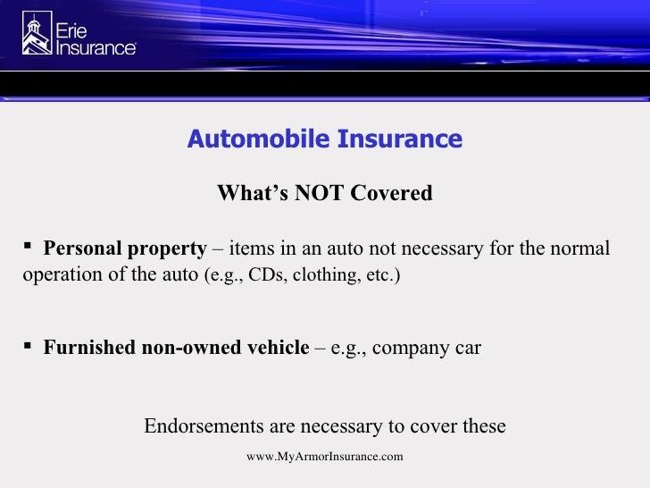 Automobile Insurance Endorsements