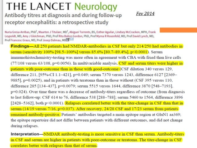Lab diagnosis of Autoimmune Encephalitis