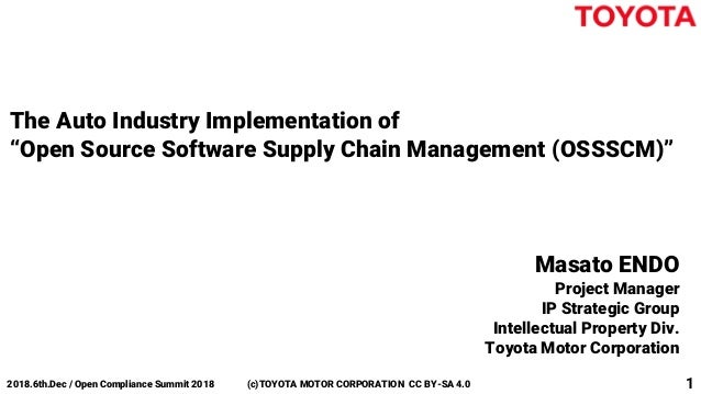 Auto Industry Implementation of Open Source Software Supply Chain Man…