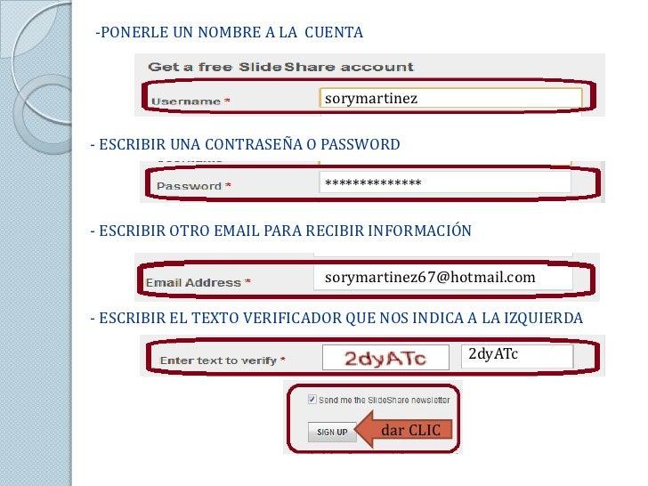 -PONERLE UN NOMBRE A LA CUENTA                             sorymartinez- ESCRIBIR UNA CONTRASEÑA O PASSWORD               ...