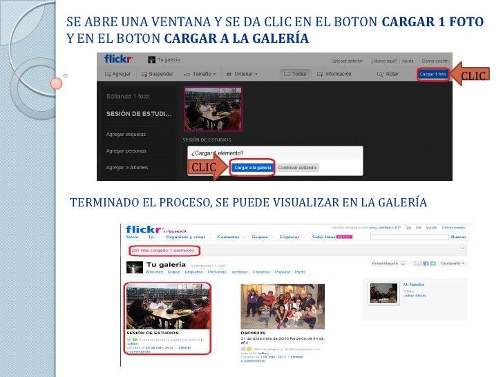 SE ABRE UNA VENTANA Y SE DA CLIC EN EL BOTON CARGAR 1 FOTOY EN EL BOTON CARGAR A LA GALERÍA                               ...