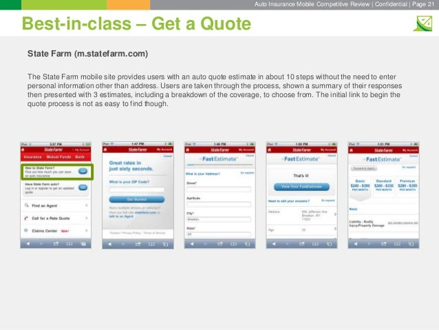 State Farm Auto Insurance Quote Brilliant Key Lime Interactive's Auto Insurance Competitive Review Slide Deck