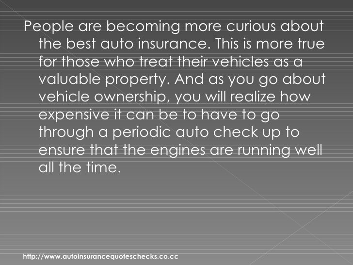 Auto Insurance Quotes – Discover 4 Secrets To Getting The Best Auto Insurance Slide 2