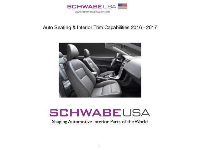 1 Auto Seating & Interior Trim Capabilities 2016 - 2017