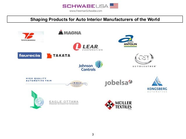 Shaping Products for Auto Interior Manufacturers of the World 3