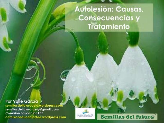 Autolesión: Causas, Consecuencias y Tratamiento Por Valle García semillasdelfuturoceld.wordpress.com semillasdelfuturo-cel...