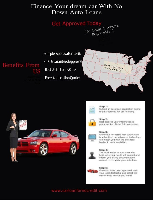 Fi Finance Your Dream Car With No Down Auto Loans Get Approved Today Benefits From Us