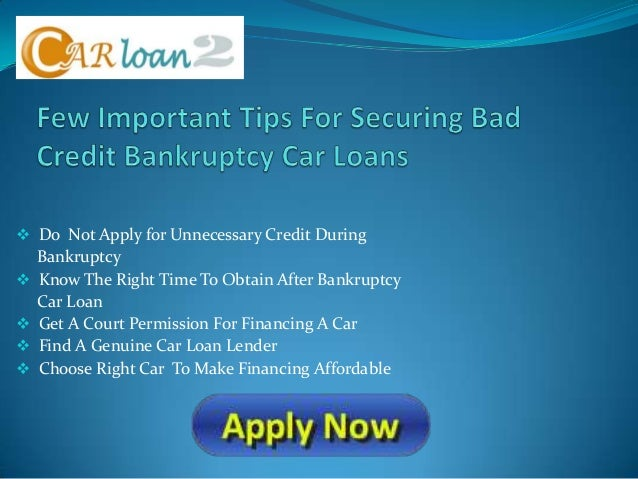 Car Loan During Chapter  Discharge