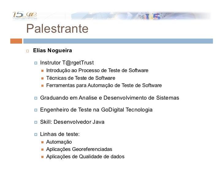 Automação no Processo de Teste Slide 2