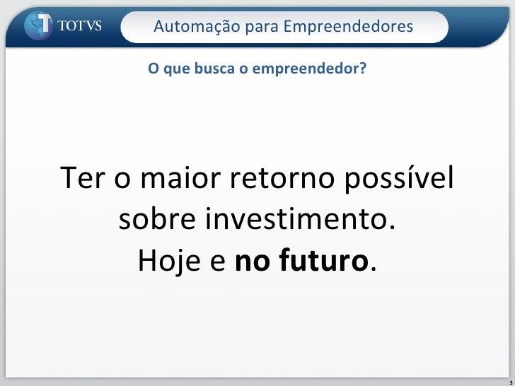 Automação Empresarial para Empreendedores Slide 3