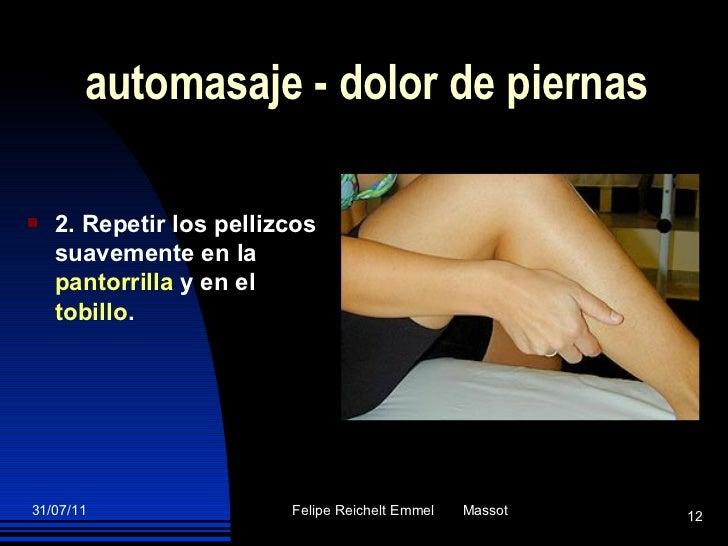 automasaje - dolor de piernas <ul><li>2. Repetir los pellizcos suavemente en la  pantorrilla  y en el  tobillo . </li></ul>