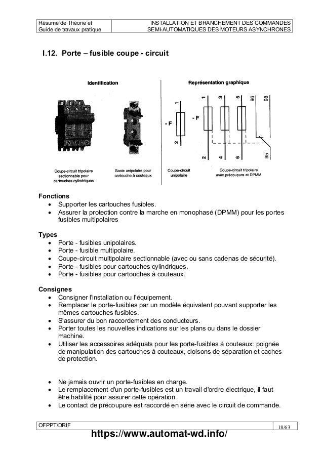 Automat m13 installation et branchement des - Remplacer porte fusible par disjoncteur ...