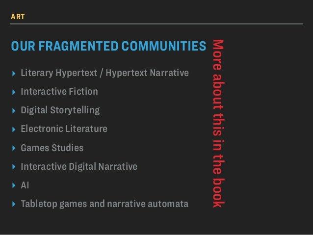 Festival of Narrative Automata * Hypertext 2017