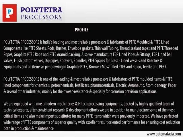 PTFE Components & Parts Slide 2