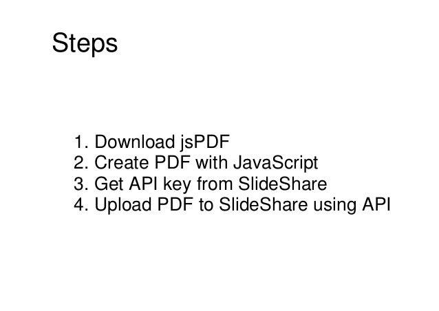 Automate with SlideShare API Slide 2