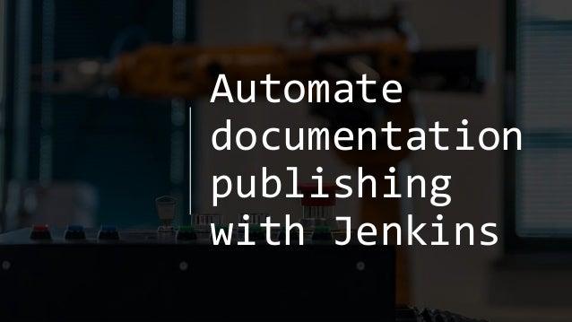 Automate documentation publishing with Jenkins
