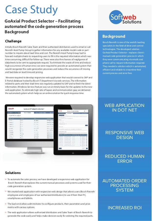 WEB APPLICATION IN DOT NET RESPONSIVE WEB DESIGN REDUCED HUMAN ERROR AUTOMATED ORDER PROCESSING SYSTEM INCREASED ROI Backg...