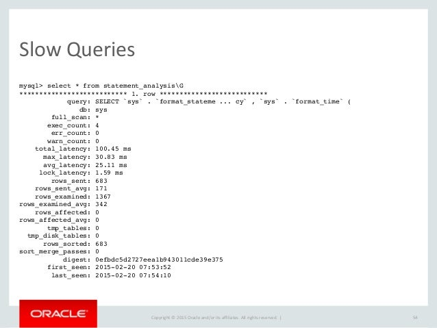 Copyright  ©  2015  Oracle  and/or  its  affiliates.  All  rights  reserved.      Runtime  Stats m...