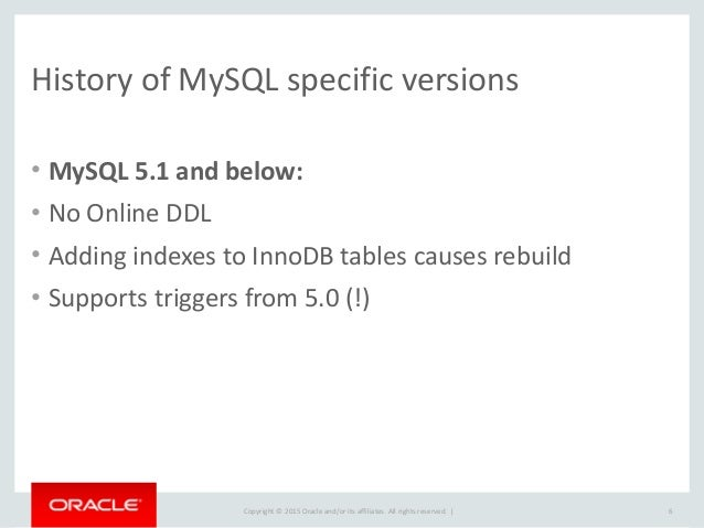 Copyright  ©  2015  Oracle  and/or  its  affiliates.  All  rights  reserved.      History  of  M...