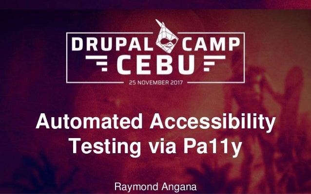 Automated Accessibility Testing via Pa11y Raymond Angana