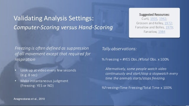 Automated Analysis of Behavioral Data – Examples from Fear
