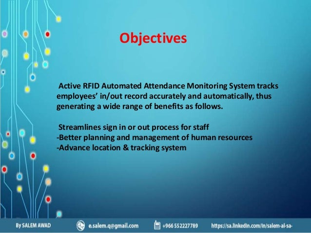 automated attendance monitoring system