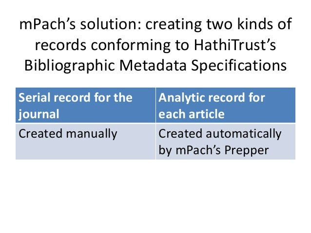 So can users only discover articles by way of the journal homepage? Nope! The analytic records for each article will also ...
