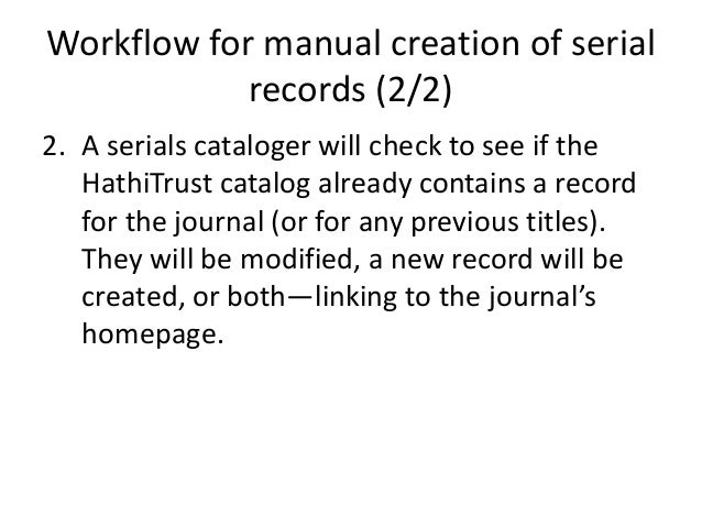 Automatic creation of article records (2/2) So because we'll have data that is correctly structured and actually correct, ...